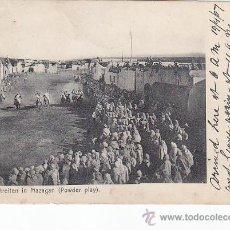 Sellos: MARRUECOS: MAZAGAN EN 1907. BONITA TARJETA POSTAL CIRCULADA DE CASABLANCA A LONDRES (INGLATERRA).. Lote 26618920