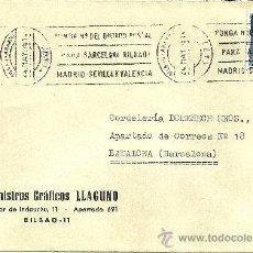 Sellos: SOBRE CERTIFICADO, CIRCULADO Y CON 1 SELLO Y MATASELLOS DE ESPAÑA - 1951. Lote 27177692