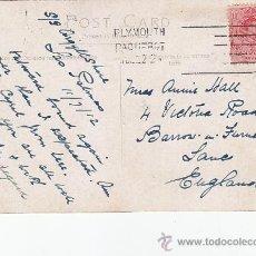Sellos: PLYMOUTH PAQUEBOT: MATASELLOS EN TARJETA CIRCULADA EN 1912 DE LAS PALMAS (CANARIAS) A INGLATERRA.. Lote 27296021