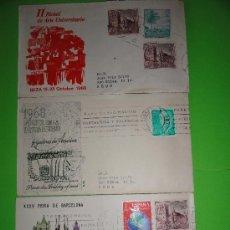 Sellos: 3 SOBRES EXPOSICIONES VARIOS AÑOS 1966-67-68. Lote 27836572