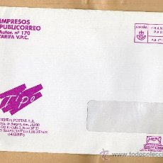 Sellos: SOBRE CON FRANQUEO PAGADO TIPO · AUTORIZACIÓN DE CORREOS I 280617 · IMPRESOS PUBLICORREO. Lote 27896344