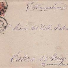 Sellos: SOBRE CIRCULADO DESDE MADRID A CABEZA DEL BUEY. AÑO 1886. Lote 28321527