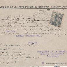 Sellos: SOBRE DE LA COMPAÑÍA DE LOS FERROCARRILES DE PEÑARROYA Y PUERTOLLANO. Lote 28321592