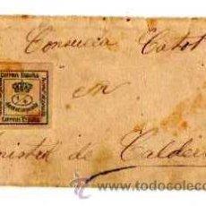 Sellos: PEQUEÑA SOBRE CON SELLO. MONISTROL DE CALDERS. 9 X 5 CM.. Lote 28479793