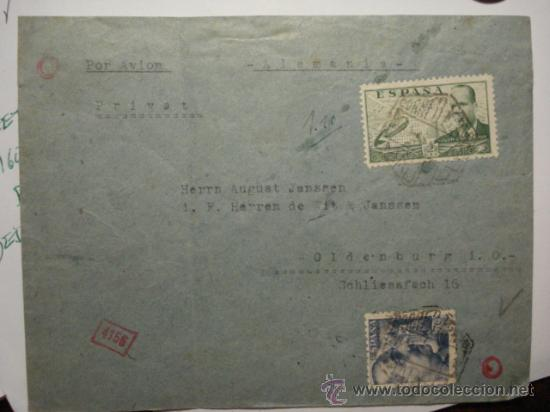 Sellos: 531 CENSURA DE LA WEHRMACHT CARTA CIRCULADA DE MADRID A OLDENBURG ALEMANIA - Foto 2 - 28668978