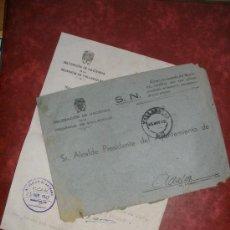 Sellos: CARTA CON FRANQUICIA Y CIRCULAR ,DE LA DELEGACION DE HACIENDA DE VALLADOLID. AÑO 1942.. Lote 29765056