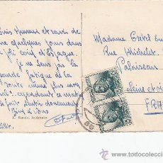 Sellos: REPUBLICA ESPAÑOLA CONCEPCION ARENAL (PAREJA) EN TARJETA POSTAL CIRCULADA MELILLA A FRANCIA.. Lote 30280900