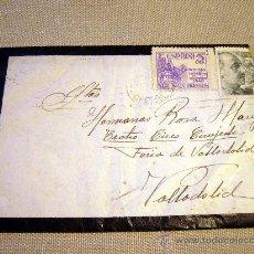 Sellos: SOBRE, LUTO, CON CARTA, SELLADA, 1949, VALLADOLID. Lote 30880197
