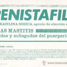 Sellos: MEDICINA: DOCTOR ANDRES LAGUNA: BONITA Y RARA TARJETA CIRCULADA MADRID PUBLICIDAD PENISTAFIL. MPM.. Lote 30606797