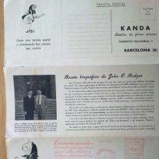 Sellos: E20-CARTA PREFRANQUEADA AÑO 1950 BONITA.DE BARCELONA MURCIA,IMPRESO AMBOS LADOS. Lote 101844086