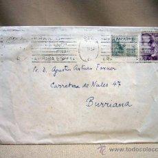 Sellos: SOBRE, CIRCULADO, 50S, BURRIANA, CASTELLON. Lote 31106646