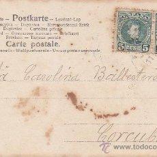 Sellos: 1903 FERROL DEL CAUDILLO (LA CORUÑA) A CORCUBION BONITA RARA TARJETA PAREJA ALFONSO XIII CADETE. MPM. Lote 31245726