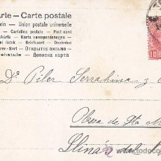 Sellos: BONITA Y ANTIGUA TARJETA POSTAL CIRCULADA 1906 DE BARCELONA A LLINÁS DEL VALLÉS ALFONSO XIII CADETE.. Lote 31394147