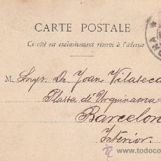Sellos: 1903: ANTIGUA TARJETA POSTAL DE A. BERGERET ET CIE. NANCY CIRCULADA BARCELONA INTERIOR. ALFONSO XIII. Lote 31394378