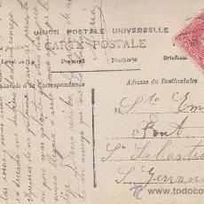Sellos: 1908: BONITA Y ANTIGUA TARJETA POSTAL CIRCULADA DE BARCELONA A SAN GERVASIO. ALFONSO XIII CADETE.. Lote 31394424