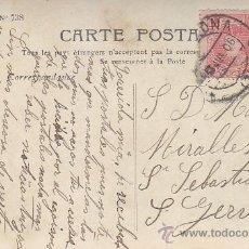 Sellos: 1906: BONITA Y ANTIGUA TARJETA POSTAL CIRCULADA DE BARCELONA A SAN GERVASIO. ALFONSO XIII CADETE.. Lote 31394513