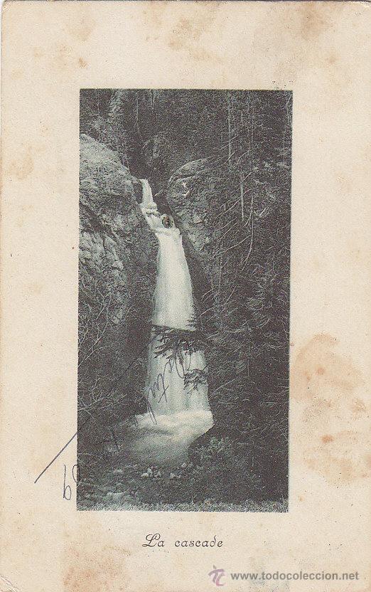 Sellos: LA CASCADA: BONITA Y ANTIGUA POSTAL CIRCULADA EN 1909 A LOGROÑO FRANQUEADA CON ALFONSO XIII CADETE. - Foto 2 - 31394601
