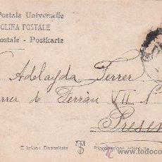 Sellos: 1906: BONITA Y ANTIGUA TARJETA POSTAL CIRCULADA DE BARCELONA A PRESENT. FRANQUEO ALFONSO XIII CADETE. Lote 31394655