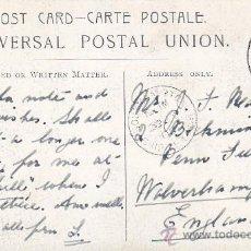 Sellos: 1906 SOUTHAMPTON SHIP LETTER: MATASELLOS EN TARJETA DE BARCOS CIRCULADA SANTA CRUZ TENERIFE CANARIAS. Lote 31474491