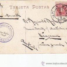 Sellos: 1907 BONITA Y RARA TARJETA POSTAL CLUB NAUTICO LAS ARENAS CIRCULADA BILBAO (VIZCAYA)-NUEVA ZELANDA.. Lote 31514672