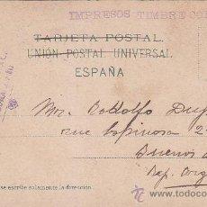 Sellos: 1912: TARRAGONA A BUENOS AIRES: BONITA TARJETA POSTAL DE SEVILLA. MARCA FERNANDO GIL CALA TARRAGONA . Lote 31516495
