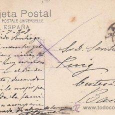 Sellos: 1909: MADRID SENADO: BONITA POSTAL NUMERO 1706 CIRCULADA DE MADRID A BARCELONA. ALFONSO XIII CADETE.. Lote 31530358