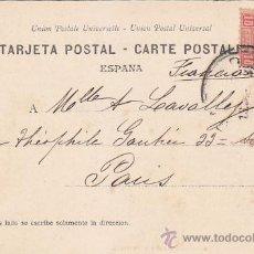 Sellos: 1903: CONGRESO DIPUTADOS MADRID: 6 TODO MADRID CANOVAS: BONITA POSTAL CIRCULADA DE MADRID A PARIS.. Lote 31530504