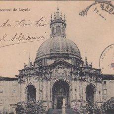 Sellos: 1906: LOYOLA FACHADA CENTRAL: BONITA TARJETA POSTAL CIRCULADA DE SAN SEBASTIAN A MADRID. LLEGADA.. Lote 31530994