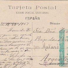 Sellos: 1908: MANRESA (BARCELONA): INTERIOR SANTA CUEVA DE SAN IGNACIO: BONITA POSTAL CIRCULADA A ARGENTONA.. Lote 31557705