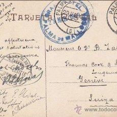 Sellos: 1909: MARCA GRAND HOTEL PALMA DE MALLORCA BALEARES EN POSTAL PAISAJE POLLENSA TOUS A SUIZA. LLEGADA. Lote 31557830