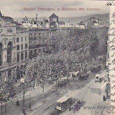 Sellos: 1908: TEATRO PRINCIPAL Y RAMBLA DEL CENTRO BARCELONA RARA POSTAL RÖMMLER & JONAS CIRCULADA A PARIS. Lote 31568054