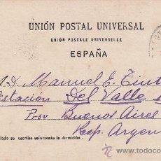 Sellos: 1903: ESTAFETA DE CAMBIO: MATASELLOS EN TARJETA POSTAL CIRCULADA DE BARCELONA A ARGENTINA.. Lote 31582616