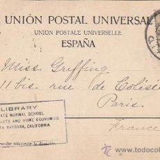 Sellos: CIRCA 1900: RECUERDO DE BURGOS: VISTA GENERAL DE LA CATEDRAL RARA TARJETA POSTAL CIRCULADA A PARIS. Lote 31588648