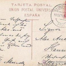 Sellos: 1909 PLAZA DE CAIRASCO LAS PALMAS CANARIAS TARJETA POSTAL CIRCULADA SANTA CRUZ TENERIFE A ALEMANIA.. Lote 31588982