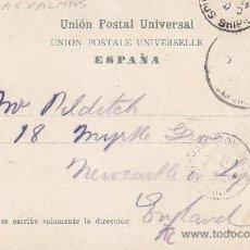 Sellos: 1905 LAS PALMAS GRAN CANARIA CANARIAS MUY RARA POSTAL MATASELLOS SOUTHAMPTON SHIP LETTER DE LLEGADA. Lote 31593062