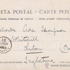 Sellos: 1907 AMB NORTE 6 CERTIFICADO RARO MATASELLOS EN POSTAL SAN SEBASTIAN CIRCULADA A INGLATERRA. LLEGADA. Lote 31593848