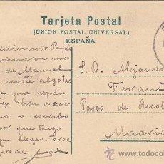 Sellos: 1907 BONITA Y RARA TARJETA POSTAL SALON DE EMBAJADORES ALHAMBRA GRANADA CIRCULADA A MADRID.. Lote 31621128