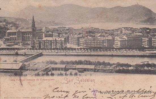 Sellos: 1902 BONITA Y RARA TARJETA POSTAL SAN SEBASTIAN 10531 ROMMLER & JONAS CIRCULADA A FRANCIA. LLEGADA. - Foto 2 - 31634325