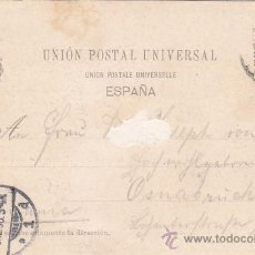 Sellos: 1898 ALFONSO XIII PELON MUY RARA TARJETA POSTAL 407 HAUSER MENET BARCELONA CASCADA CIRCULADA LLEGADA. Lote 31647590