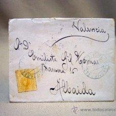 Sellos: CARTA Y SOBRE CIRCULADO 1917, SELLO DE CASAS IBAÑEZ - ALBACETE, ALFONSO XIII, 15 CENTIMOS. Lote 32935799