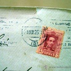 Sellos: SOBRE, SOBRE CIRCULADO, ALTURA CASTELLON, 1926. Lote 33205894