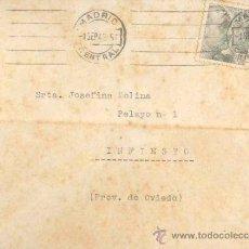 Sellos: SOBRE CON CARTA AÑO 1943 - INFIESTO - ASTURIAS. Lote 33683356
