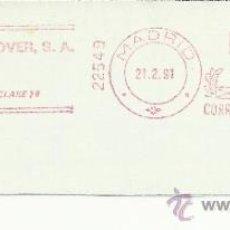 Sellos: FRANQUEO MECANICO MADRID COMERCIAL HANOVER SA . Lote 34749905