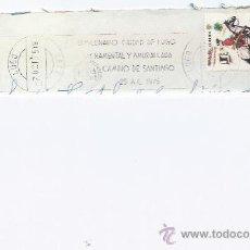 Sellos: SOBRE CIRCULADO-BIMILENARIO CIUDAD DE LUGO-MATASELLOS DE RODILLO. Lote 35189979