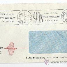 Sellos: SOBRE CIRCULADO-FERIA INTERNACIONAL DE BARCELONA 1976-MATASELLOS DE RODILLO. Lote 35214781