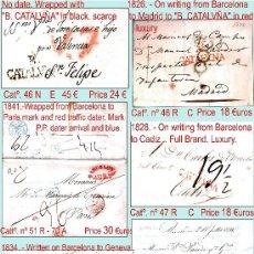 Sellos: BARCELONA.- H. POSTAL PREFILATELIA 15 CARTAS DIFER. 1751 A 1841 P.V.1500 €.VER CONDICIONES Y 6 FOTOS. Lote 35574875