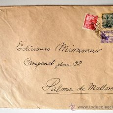 Sellos: SOBRE CIRCULADO MADRID-PALMA DE MALLORCA (1949) REMITE DEL ARTISTA RAFAEL BORRÁS. Lote 35740305