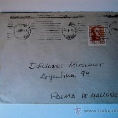 Sellos: SOBRE CIRCULADO MADRID-MALLORCA (1951). Lote 35819598