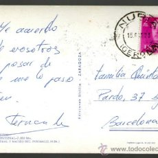 Sellos: MATASELLO MANUAL NURIA EN POSTAL 15 OCT 73 NURIA - BARCELONA NURIA ESTACION INVERNAL. Lote 35872230