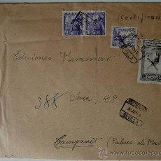 Sellos: SOBRE CIRCULADO SEVILLA-CAMPANET (MALLORCA) ENVIO EL 30 JUNIO 1949. Lote 35842816